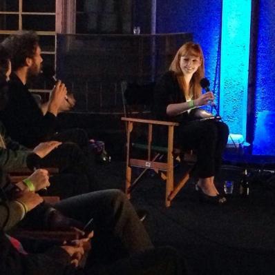 Hosting 'DIY Filmmaking' panel at Shadow Electric Cinema.