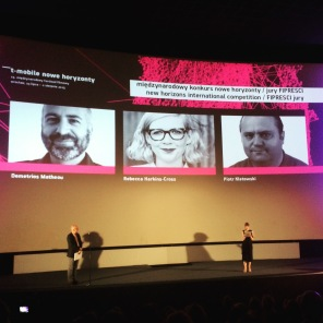 I was a judge on the FIPRESCI jury at New Horizons Film Festival in Wroclaw, Poland