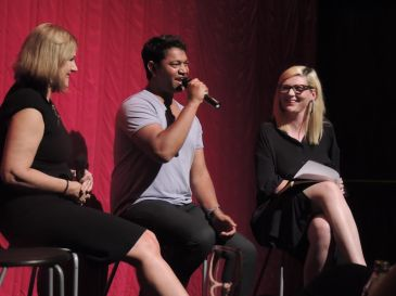 Hosting discussion for the Australian film Lion at Cinema Nova, with the real-life inspirations Saroo and Sue Brierley.