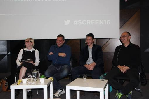 Hosting a panel on the page-to-screen adaptation of Barracuda at Screen Futures, with Christos Tsolkias, Elias Anton and Tony Ayres.