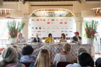 Hosting 'Why Write' at the Ubud Writers and Readers Festival, with Nam Le, Mireille Juchau, Okky Madasari and Amanda Curtin.